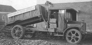 Antique Photo Of an Asphalt Delivery